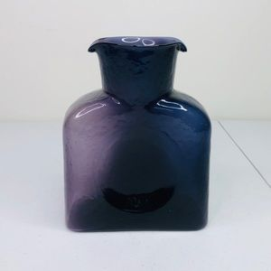 Purple Glass Square Shaped Vase